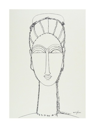 Amedeo Modigliani Female Face