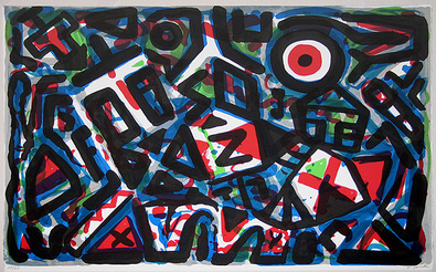 A.R. Penck Bewegung um das Zentrum herum