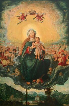 Albrecht Altdorfer Maria mit dem Kinde in der Glorie