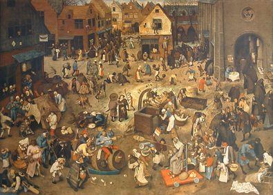 Pieter Brueghel Streit des Karnevals mit den Fasten