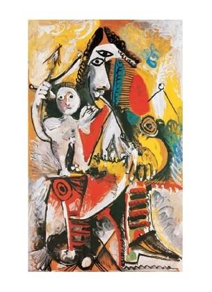 Pablo Picasso Musketier und Amor