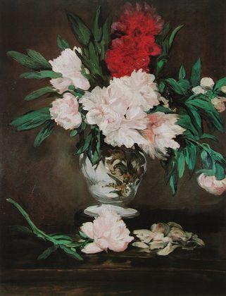 Manet edouard blumen in einer vase  1916 large