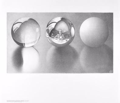 MC Escher Drei Kugeln II