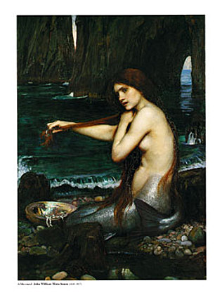 John William Waterhouse A Mermaid