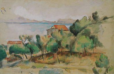 Paul Cezanne Landschaft am Mittelmeer