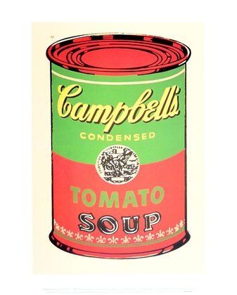 Warhol andy campbell s soup can 1965 green red large