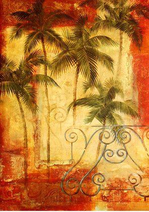 Fabrice de Villeneuve Palm Balcony