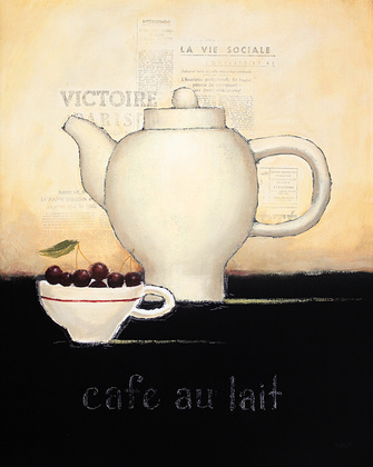 Emily Adams 4er Set 'Cafe au Lait' + 'Espresso Francais' + 'Chocolat' + 'Salon de The'