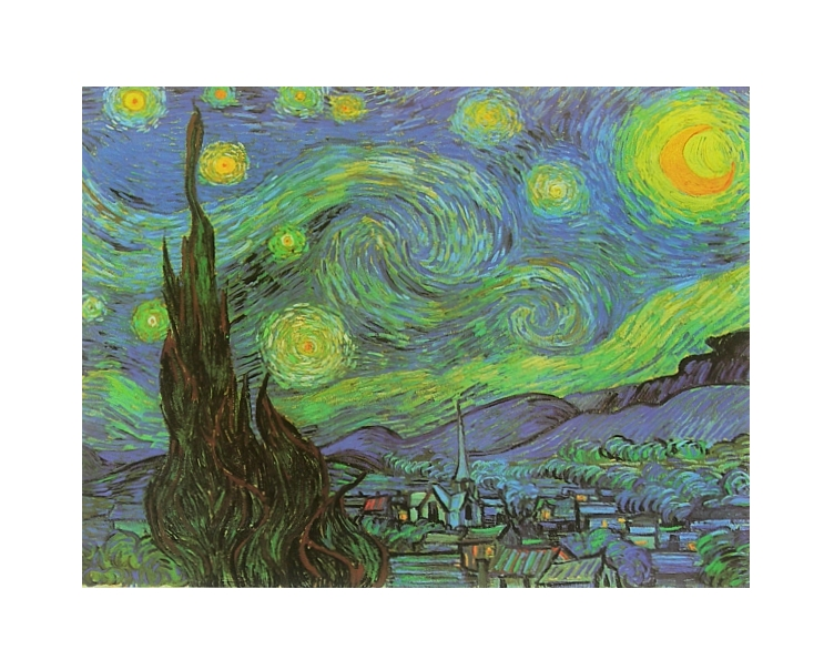 vincent van gogh sternennacht poster kunstdruck bild 40x50cm portofrei ebay. Black Bedroom Furniture Sets. Home Design Ideas