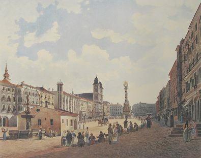 Jakob von Alt Der Hauptplatz in Linz