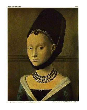 Petrus Cristus Bildnis eines jungen Maedchens (klein)