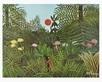 Rousseau henri urwaldlandschaft mit untergehender sonne medium