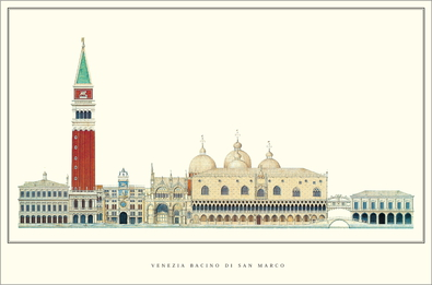 unbekannter Kuenstler Venedig, Bacino di San Marco