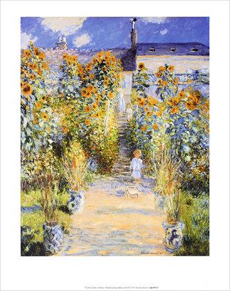 Claude Monet Artist's Garden at Vetheuil