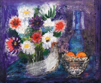 Julia Lopez Stilleben mit Blumen