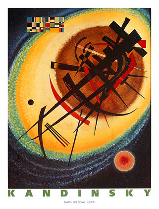 Kandinsky wassily dans un oval clair large