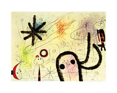 Joan Miro Der Glanz der Sonne (verwundet den Morgenstern)