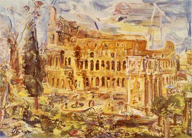 Oskar Kokoschka Rom das Kolosseum