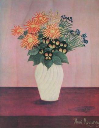 Henri Rousseau Blumen in einer Vase