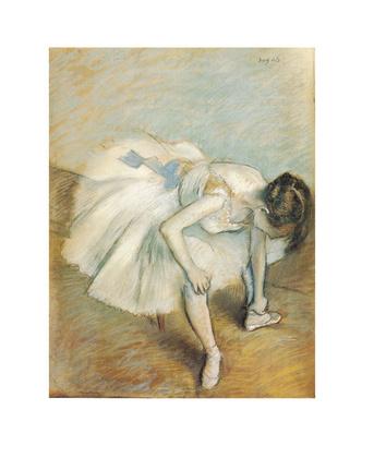 Edgar Degas Danseuse nouant son brodequin