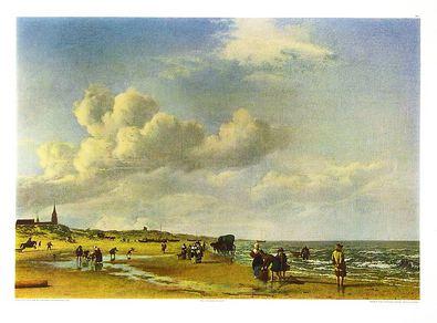 Adriaen van de Velde Der Strand von Scheveningen (76x55cm)