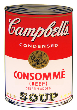 Andy Warhol Campbells Soup - Consomme (Beef)