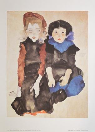 Egon Schiele Zwei kleine Maedchen