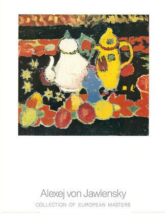 Alexej von Jawlensky Stilleben mit gelber und weisser Kanne