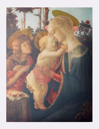 Sandro Botticelli Madonna mit Jesus und Johannes