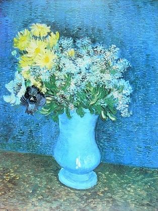 Vincent van Gogh Vase mit Lilien, Margeritten und Anemonen