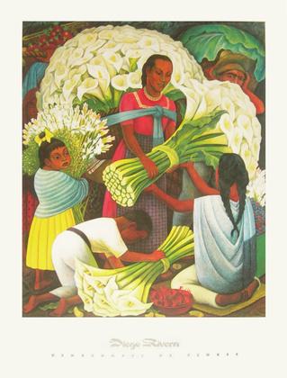 Diego Rivera Beim Blumenhaendler 1949