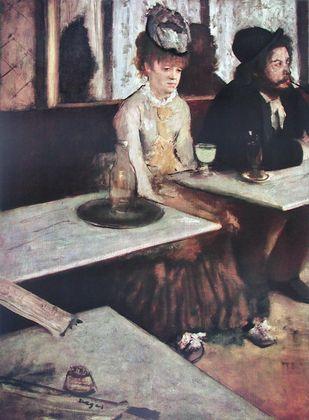 Edgar Degas Frau und Mann beim Wermuth Trinken