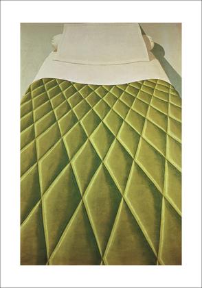 Domenico Gnoli Green Bed Cover, 1969