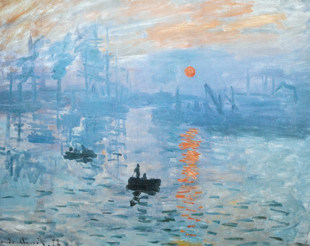 impression sunrise claude monet Impression, sunrise (french: impression, soleil levant) is a painting by claude monet shown at what would later be known as the exhibition of the impressionists in april 1874, the painting is attributed to giving rise to the name of the impressionist movement.