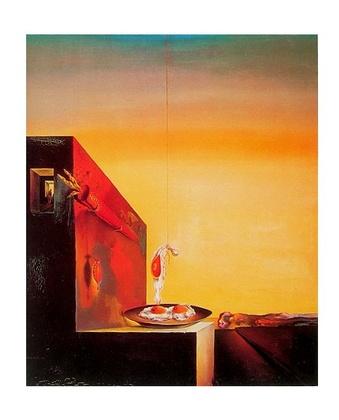 Salvador Dali Spiegeleier auf dem Teller ohne Teller
