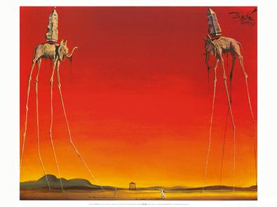 Salvador Dali Les elephants