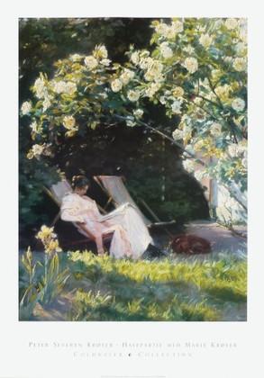 Peter Severin Kryer Havepartie med Marie Krøyer