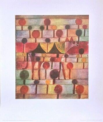 Paul Klee Kamel in rhythimischer Baumlandschaft