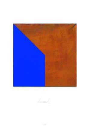 Juergen Freund Quadrat mit Spitze Rost und Blau