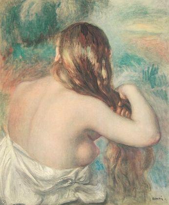 Pierre Auguste Renoir Maedchen mit offenem Haar