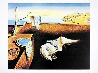 salvador dali the persistence of memory uhren poster kunstdruck bei. Black Bedroom Furniture Sets. Home Design Ideas