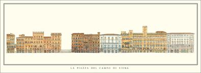 unbekannter Kuenstler La Piazza del Campo di Siena