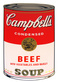 Andy Warhol Campbells Soup - Beef vegetables