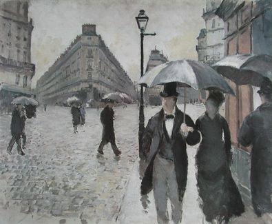 Gustave Caillebotte Ein Regentag in Paris  1877