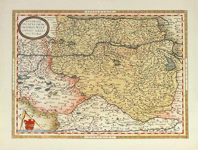 Abraham Ortelius Austriae Ducatus Chorographia (Map of Austria)