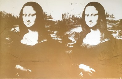 Andy Warhol Zwei mal goldene Mona Lisa
