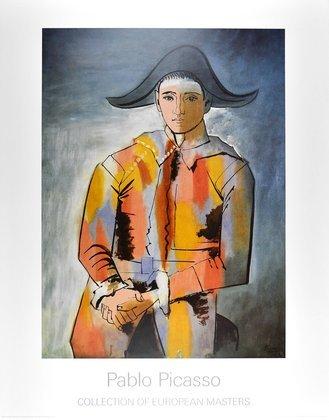 Picasso pablo arlequin  les mains crois ees large