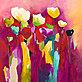 Anne L Strunk Townflowers I