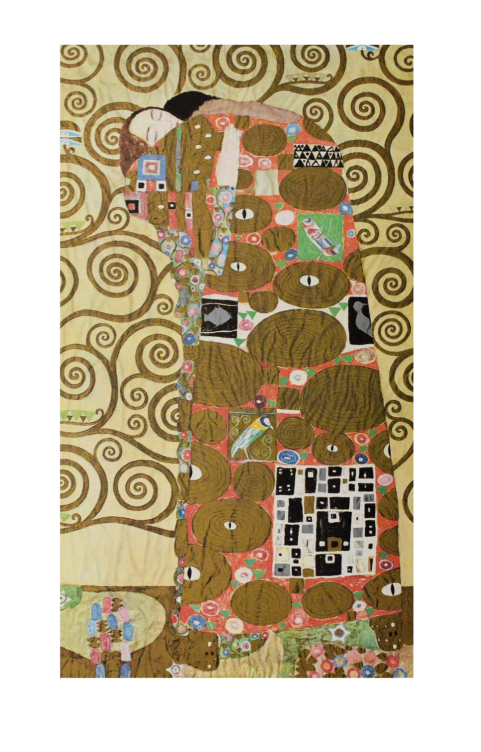 gustav klimt die erf llung poster kunstdruck bild 76x47cm ebay. Black Bedroom Furniture Sets. Home Design Ideas