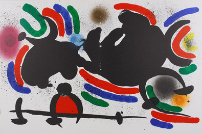 Joan Miro Litografia Original IV